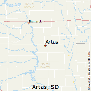 Artas,South Dakota Map