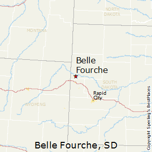 Belle_Fourche,South Dakota Map