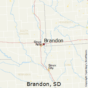 Brandon,South Dakota Map