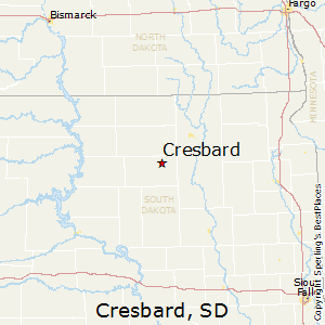 Cresbard,South Dakota Map
