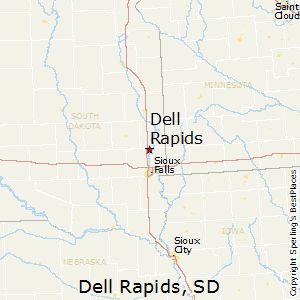 Dell_Rapids,South Dakota Map