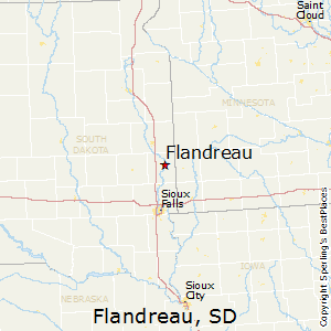 Flandreau,South Dakota Map