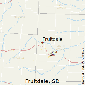 Fruitdale,South Dakota Map