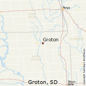 Groton,South Dakota Map
