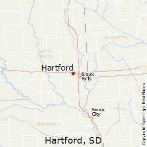 Hartford,South Dakota Map