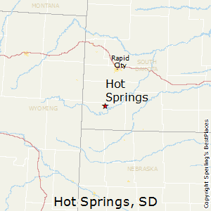 Hot_Springs,South Dakota Map