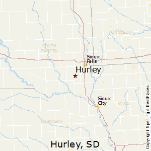 Hurley,South Dakota Map
