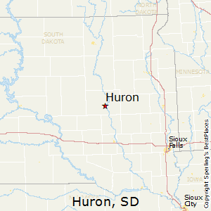 Huron,South Dakota Map