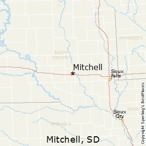 Mitchell,South Dakota Map