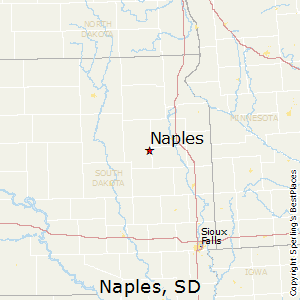 Naples,South Dakota Map