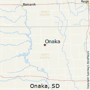 Onaka,South Dakota Map