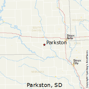 Parkston,South Dakota Map