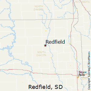 Redfield,South Dakota Map