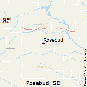 Rosebud,South Dakota Map