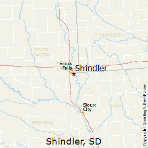 Shindler,South Dakota Map