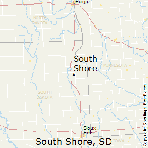 South_Shore,South Dakota Map