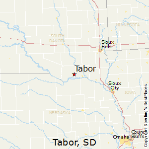 Tabor,South Dakota Map