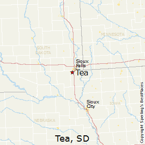 Tea,South Dakota Map
