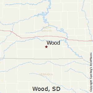 Wood,South Dakota Map
