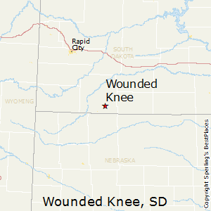 Wounded_Knee,South Dakota Map