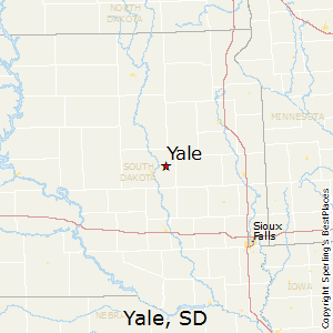 Yale,South Dakota Map