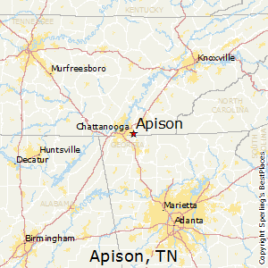 Apison,Tennessee Map