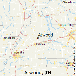 Atwood,Tennessee Map