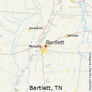 Bartlett,Tennessee Map