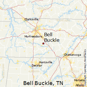 Bell_Buckle,Tennessee Map
