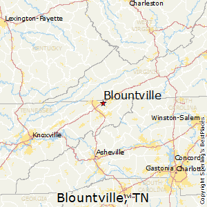 Blountville,Tennessee Map