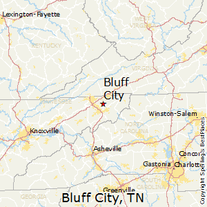 Bluff_City,Tennessee Map
