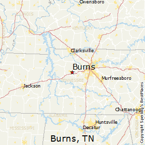 Burns,Tennessee Map