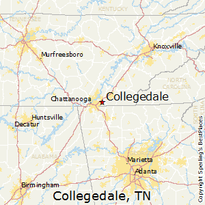 Collegedale,Tennessee Map