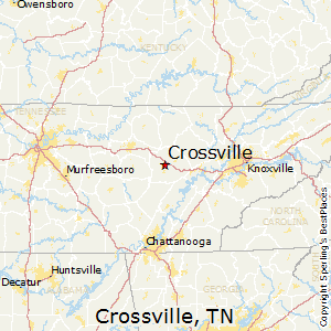 How far is crossville tn from chattanooga tn