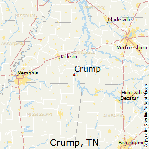 Crump,Tennessee Map