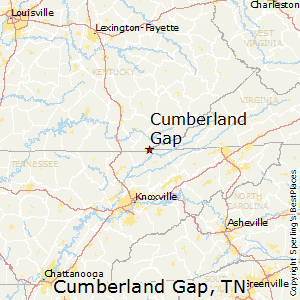 Cumberland_Gap,Tennessee Map