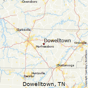 Dowelltown,Tennessee Map
