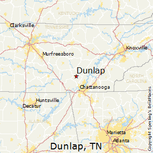 Dunlap,Tennessee Map
