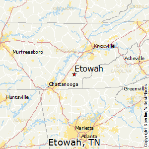 Etowah,Tennessee Map