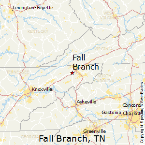 Fall_Branch,Tennessee Map