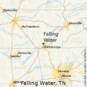 Falling_Water,Tennessee Map