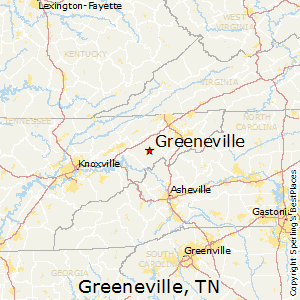 Greeneville,Tennessee Map