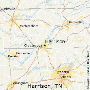 Harrison,Tennessee Map