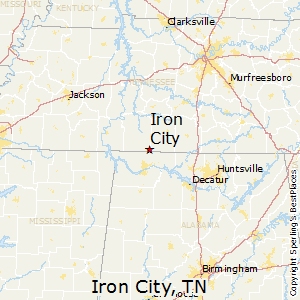 Iron_City,Tennessee Map