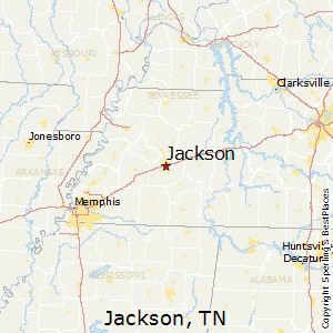 Jackson,Tennessee Map