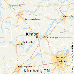 Kimball,Tennessee Map