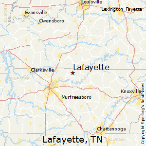 Lafayette,Tennessee Map