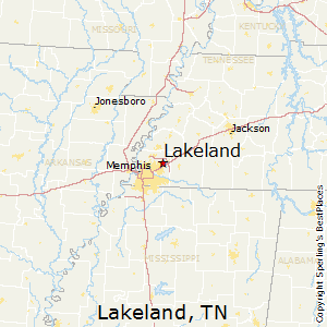 Lakeland,Tennessee Map