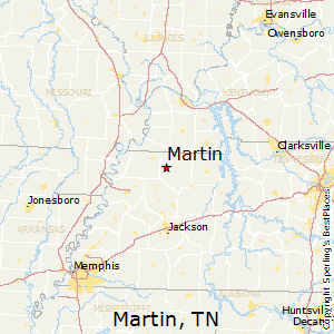 Martin,Tennessee Map