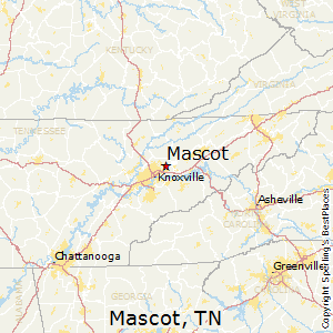 Mascot,Tennessee Map